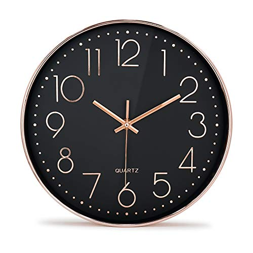 Rose Gold Wall Clock Silent Non Ticking