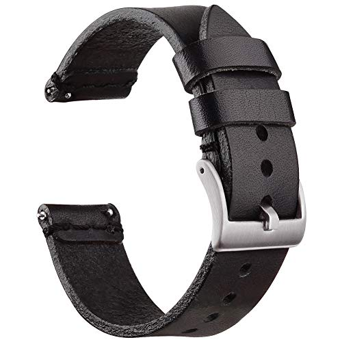 Ritche 22mm Leather Watch Bands, Quick Release Leather