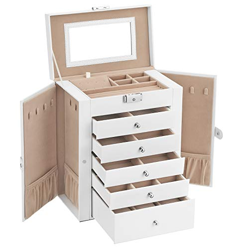 Watches Large Jewelry Case with Drawers