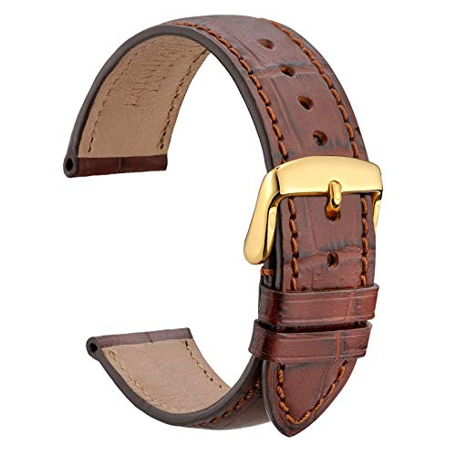 WOCCI 18mm Alligator Embossed Leather Watch Band