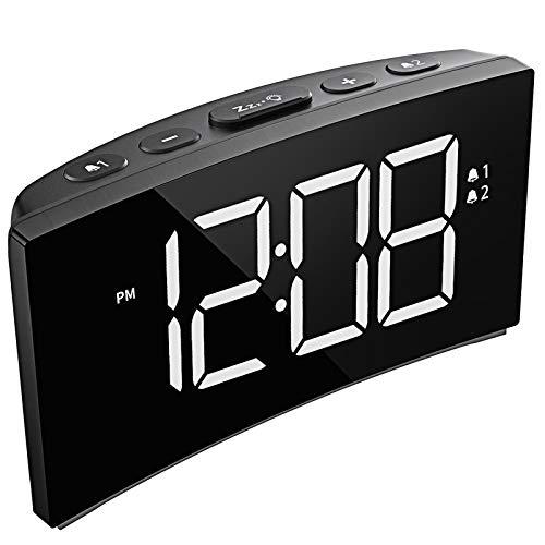 Digital Dual Alarm Clock Brightness Dimmer