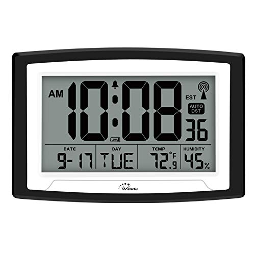 Atomic Clock Digital Wall or Desk for Seniors