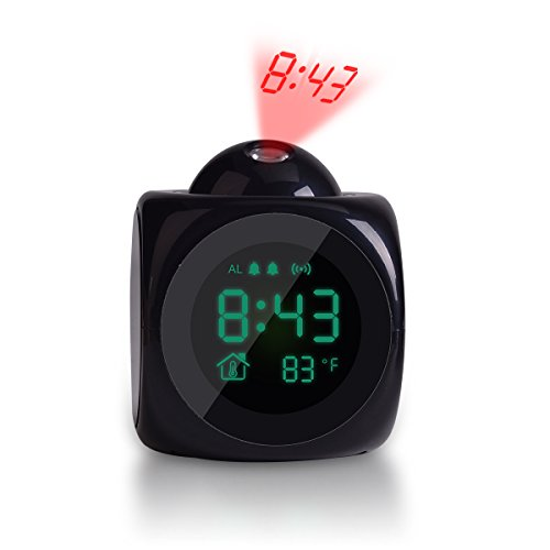 TechKen Projection Alarm Clock Voice Alarm Clock