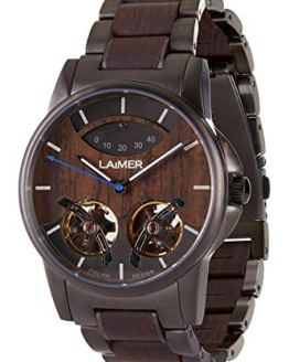 LAiMER Wooden Watch - Wristwatch ADAM in Solid Wood