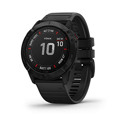 Garmin Fenix 6X Sapphire Dark Gray with Black Band