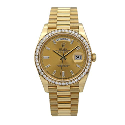 Diamond Bezel Rolex Day-Date 40 President Yellow Watch