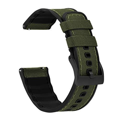 BARTON Cordura Fabric and Silicone Hybrid Watch Bands