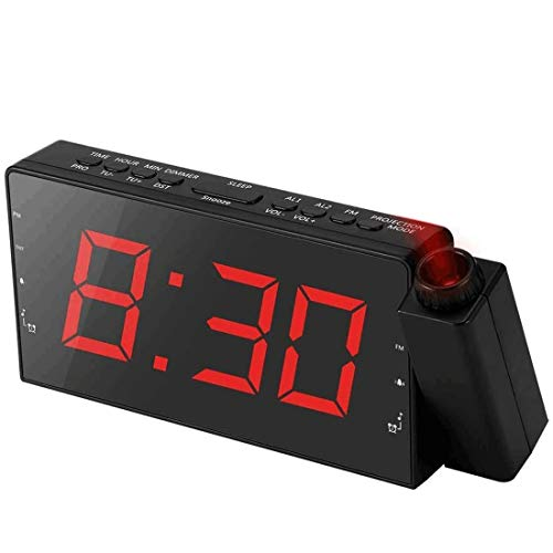 Alarm Clock Projection on Ceiling, FM Radio Wall Clock