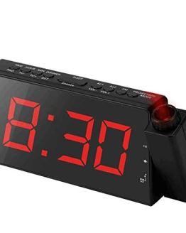 Alarm Clock Projection on Ceiling, FM Radio Wall Clock