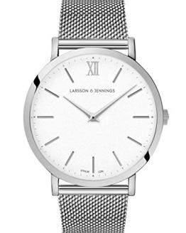 Larsson Jennings 40mm Satin White dial and Silver