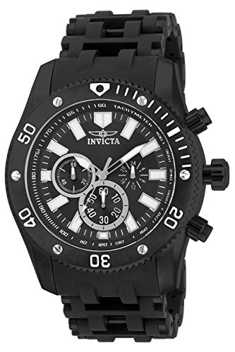 Invicta Men's Sea Spider 50mm Black Stainless Steel