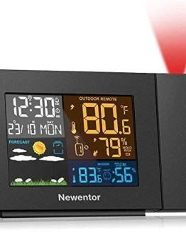 Projection Alarm Clock with Weather Station for Bedrooms
