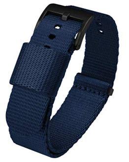18mm Navy Blue - BARTON Jetson NATO Style Watch Strap