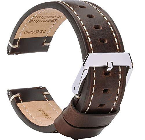 Leather Watch Band Quick Release Strap Smartwatch
