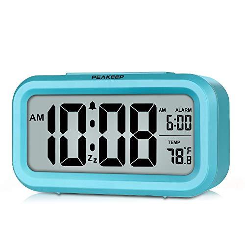 Blue Night Light Digital Alarm Clock