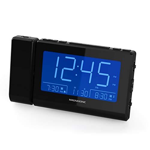 Magnasonic Alarm Clock Radio with Time Projection