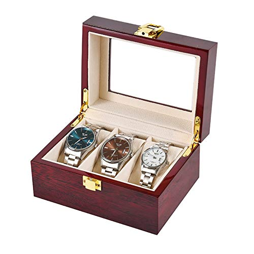 Large Watch Display Case Organizer with Real Glass