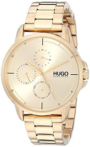 HUGO by Hugo Boss Quartz Watch Stainless Steel Strap, Gold