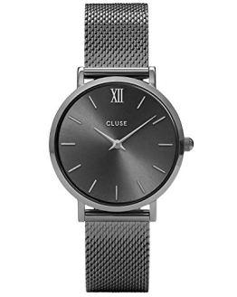 CLUSE Minuit Mesh Dark Grey Women's Watch 33mm