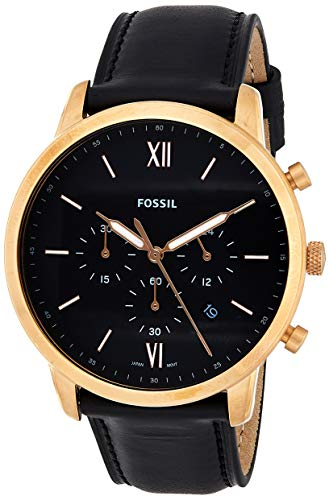Fossil Rose Gold Neutra Chrono Quartz Leather Chronograph Watch