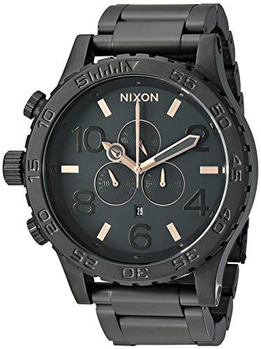 Nixon 51-30 Chrono Black/Rose Gold Men's Underwater Watch