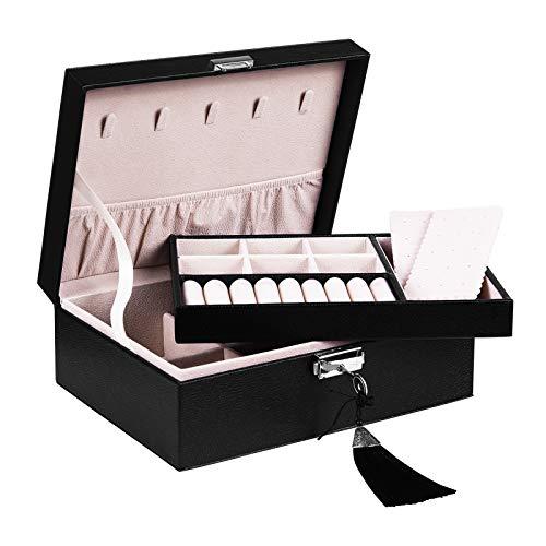 Jewelry Organizer Box Two Layers Display Storage