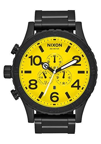 NIXON 51-30 Chrono A083 - All Black/Yellow - 300m Water Resistant