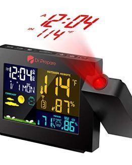 Digital Clock Projector on Ceiling with Indoor Outdoor Temperature