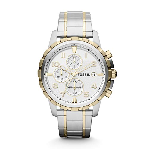 Fossil Men's Dean Quartz Stainless Chronograph Watch