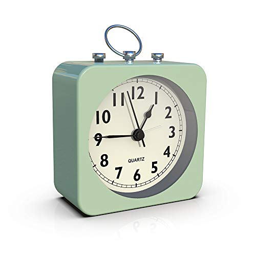 Green Alarm Clock with Square Metal Case