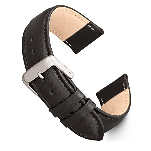 Speidel Genuine Leather Watch Band 20mm Black