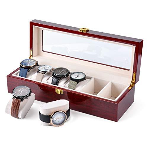 Karamanda 6 Wide Slots Wooden Paint Watch Box