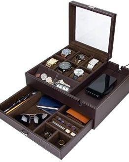 Jewelry Box Organizer with Smartphone Charging Station