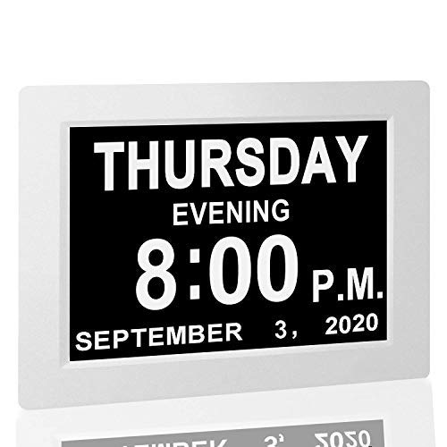 Aged Seniors Digital Calendar Alarm Day Clock