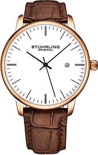 Mens Watch Calfskin Leather Strap Stuhrling Original