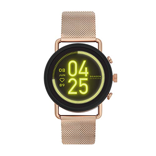 Skagen Stainless Steel and Mesh Touchscreen Smartwatch, Rose Gold