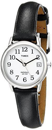 Black Timex Indiglo Leather Strap Watch