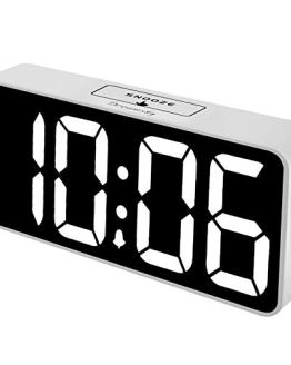 DreamSky 8.9 Inches Large Digital Alarm Clock with USB Charging Port