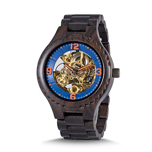 WOODME Wooden Watches for Men Chronograph Military