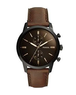Fossil Men's Townsman Quartz Leather Chronograph Watch