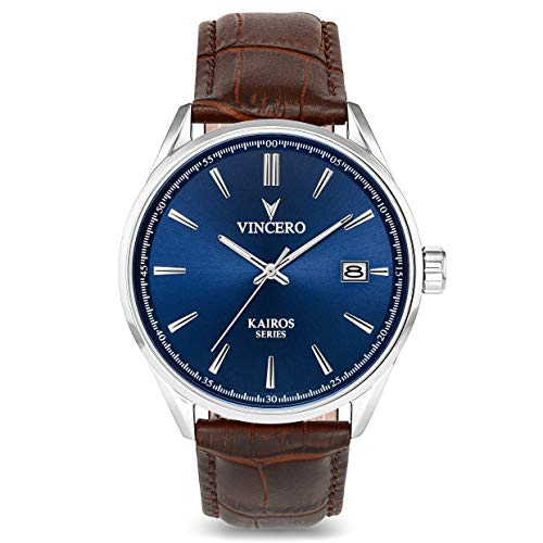 Blue dial Vincero Luxury Men's Kairos Wrist Watch,