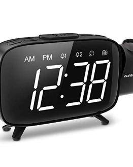 Projection Alarm Clock, ELEGIANT FM Radio Alarm Clock