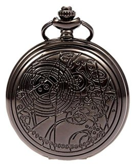 Vintage Bronze Doctor Who Retro Dr. Who Quartz Pocket Watch