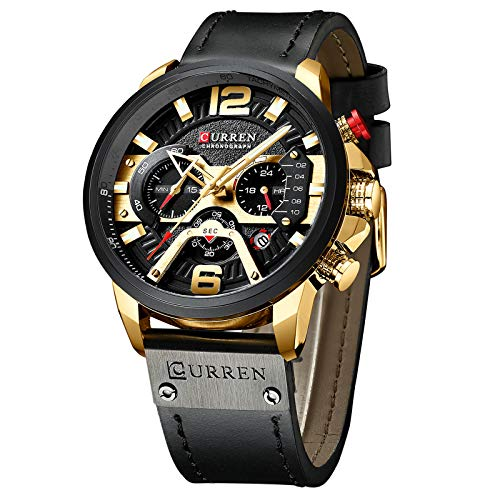 Gold-Tone Watch Analog Military Waterproof Wrist Watch