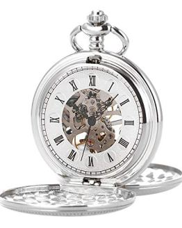 Pocket Watch - Smooth Double Case SIBOSUN Skeleton