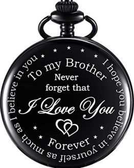 Pocket Watch Personalized Engraved for Brother