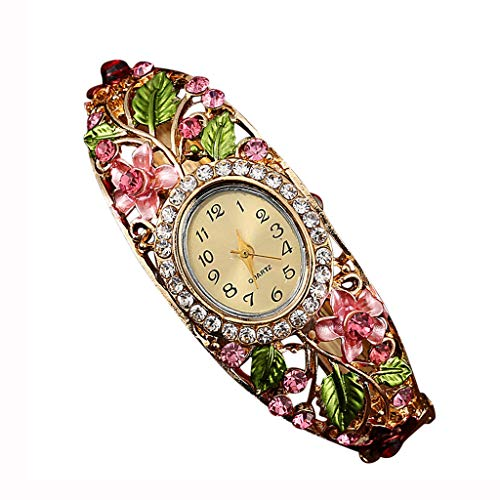 Women's Stainless Steel Quartz Watch with Leather