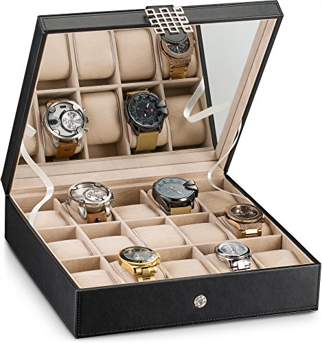 Glenor Co Watch Box - 15 Slot Classic Watch Case