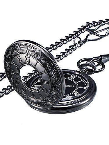 Watch with Chain Mudder Vintage Roman Numerals Scale