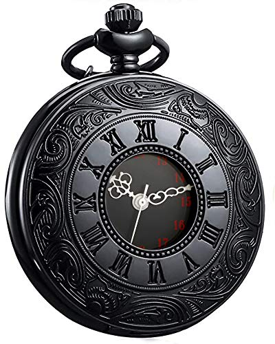 LYMFHCH Vintage Pocket Watch Roman Numerals Scale